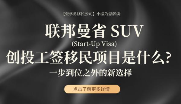 一次性搞懂联邦曼省 SUV (Start-Up Visa)创投工签移民项目是什么? 除了一步到位,您还有什么选择?